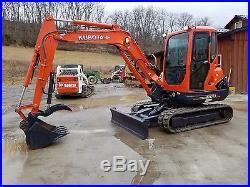 2012 Kubota KX121-3ST Mini Compact Excavator Track Hoe with Hydraulic Thumb, Blade