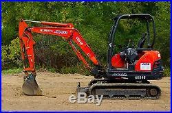2012 Kubota KX71 Excavator, with an Open Cab, 12 Bucket, and Standard Blade