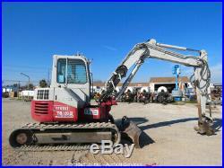 2012 Takeuchi TB180FR Midi Excavator Backfill Blade A/C Cab Aux Hyd bidadoo