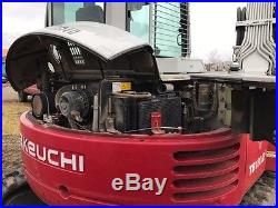 2012 Takeuchi TB180FR Midi Excavator with blade, thumb, 2 buckets, enclosed cab