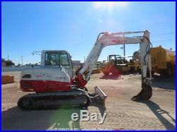 2012 Takeuchi TB285 Excavator High Flow Aux Hyd Cab Backfill Blade bidadoo
