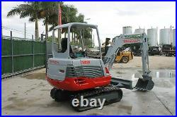 2012 Takeuchi Tb 228 Mini Excavator 2 Speed 1251 Hrs 24' Tooth Bucket