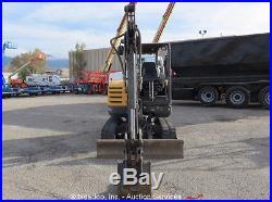 2012 Volvo EC35C Mini Excavator Rubber Tracks Backfill Blade Dozer Aux Hyd Q/C