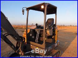 2012 Volvo EC35C Mini Excavator Rubber Tracks Backfill Blade Dozer Diesel Aux