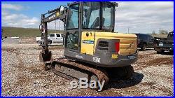 2012 Volvo EC55C Cab A/c Excavator Trackhoe EC55 EC-55
