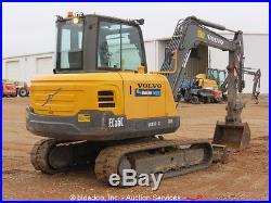 2012 Volvo EC55C Mini Excavator A/C Cab Aux Hyd Backfill Dozer Blade bidadoo