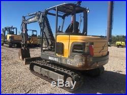 2012 Volvo EC55 Mini Excavator Track Hoe