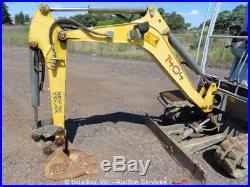 2012 Wacker 1404 Mini Excavator Rubber Tracks Backhoe Swing Boom Aux Hyd bidadoo