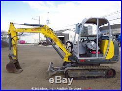 2012 Wacker 3503 Mini Excavator Hydraulic Rubber Tracks Yanmar Diesel Backhoe