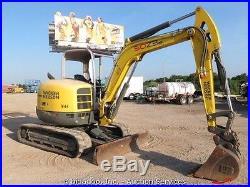 2012 Wacker Neuson 50Z3 Hydraulic Mini Excavator Diesel bidadoo