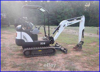 2013 Bobcat 324 Compact Mini Excavator 13.9 Diesel 12 & 16 Buckets GEORGIA
