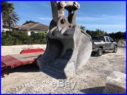2013 Bobcat E35 Mini Excavator Open Cab Kubota Engine Backfill Blade