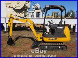 2013 JCB 8018CTS Mini Excavator Crawler Aux Hyd Extendable Tracks Backfill Blade