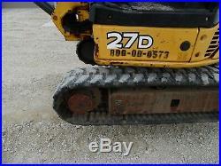 2013 John Deere 27D MINI EXCAVATOR Diesel job sight ready NICE SHAPE! Low Hour