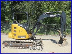 2013 John Deere 35G Mini Excavator Aux Hyd Thumb 2-Spd Rubber Pads bidadoo