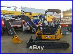 2013 John Deere 35d Mini Excavator 7,700 Lbs Excellent Tracks 2 Speed