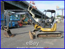 2013 John Deere 50D Mini Excavator Aux Hyd Q/C Backfill Blade Tractor bidadoo