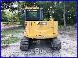 2013 John Deere 85D Excavator Enclosed Cab A/C Hydraulic Thumb Quick Att