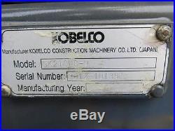 2013 KOBELCO SK210LC-9 CRAWLER EXCAVATOR WITH EROPS, 32 ORIGINAL HOURS, WOW