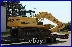 2013 Kobelco SK170 Mark 9 Excavator SK170-9 Towmaster T40 Equipment Trailer