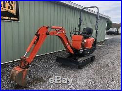 2013 Kubota K008-3 Mini Excavator Diesel Narrow Gauge Low Hours. Cheap Shipping