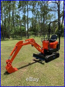 2013 Kubota K008-3 Mini Hydraulic Excavator 1280 Hours- Excellent Condition