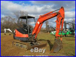 2013 Kubota KX71-3S Mini Excavator Backhoe Back Fill Blade Rubber Tracks bidadoo