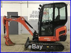 2013 Kubota Kx018 Used Mini Excavator Cab, Heat, Low Hours, Very Clean Machine