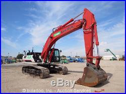 2013 Linkbelt 350X3 Hydraulic Excavator Track Hoe Cab A/C Heat Diesel bidadoo