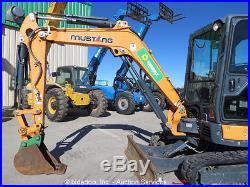 2013 Mustang 350Z-NXT2 Mini Excavator Rubber Tracks Heated Cab Backhoe bidadoo