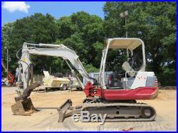 2013 Takeuchi TB235 Mini Excavator Aux Hyd Thumb Blade Rubber Tracks Swing Boom