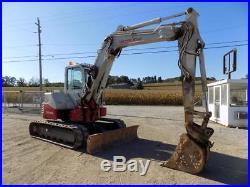 2013 Takeuchi Tb 180fr Mini Excavator, Cab, Ac/heat/radio, 2spd, Aux Hydraulics