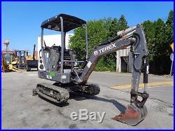 2013 Terex TC16 Mini Excavator Loader Backhoe Diesel Low Hours