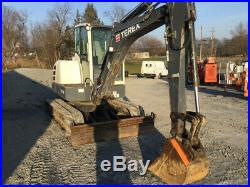 2013 Terex TC48 Midi Hydraulic Excavator with Cab Only 1700 Hours