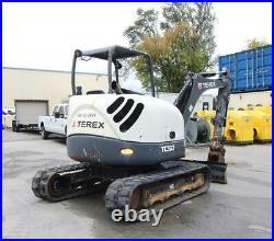 2013 Terex TC50 Mini Excavator 11,000lb Machine 12' 2' Dig Depth WORK READY