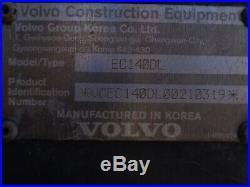 2013 Volvo EC140DL Hydraulic Crawler Excavator Loader Diesel Low Hours