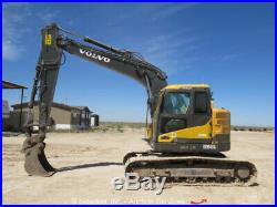 2013 Volvo ECR145DL Hydraulic Excavator Cab A/C 36 Bucket Diesel bidadoo