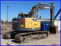 2013 Volvo ECR235DL Hydraulic Excavator A/C Cab Aux Hyd Reduced Tailswing