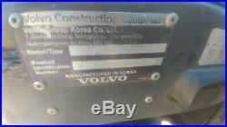 2013 Volvo ECR58 Mini Ex Excavator Trackhoe 3230Hrs 52Hp 12Kweight Used
