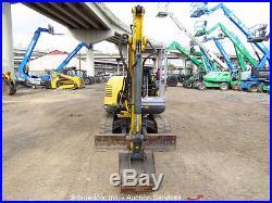2013 Wacker 3503 Mini Excavator Hydraulic Rubber Tracks Yanmar Diesel Backhoe