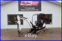 2014 Bobcat 324 Mini Excavator 1129 Hrs 14 HP Diesel Orops 3rd Valve 2 Spd