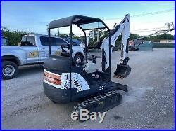 2014 Bobcat 324 Mini Excavator Rubber Tracks Push Blade Kubota Engine