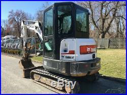 2014 Bobcat E32 Rubber Track Excavator Hydraulic Thumb Diesel Cab AC Bob Cat