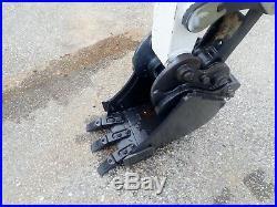 2014 Bobcat E35i Mini Excavator, Long Arm, Angle Blade, 378 Hrs, Aux Hydraulics