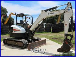 2014 Bobcat E50 Mini Excavator Rubber Tracks Backhoe Aux Hyd Diesel bidadoo