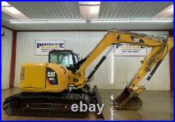 2014 Cat 308e2 Cr Cab Excavator With A/c And Heat