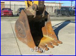 2014 JCB JS220LC Hydraulic Excavator 42 Bucket Isuzu Diesel Aux Hyd A/C Cab