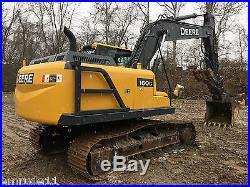 2014 John Deere 160G LC Track Excavator Full Cab JD Diesel Excavator Hyd Thumb