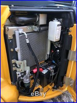 2014 John Deere 35G Mini Excavator Rubber Tracks Cab Heat A/C Low Hours