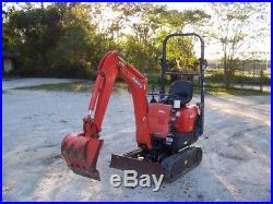 2014 Kubota K008-3 Mini Excavator, Blade, Aux Hydraulics, 3 Cyl Kubota Engine